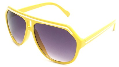 Angle of SW Aviator Style #1351 in Yellow with White, Women's and Men's