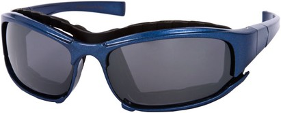 Angle of Acadia #487 in Blue Frame, Women's and Men's Sport & Wrap-Around Sunglasses