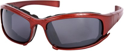 Angle of Acadia #487 in Red Frame, Women's and Men's Sport & Wrap-Around Sunglasses