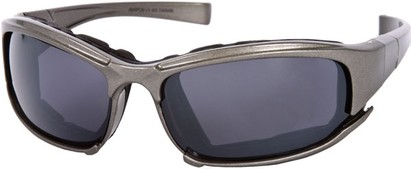Angle of Acadia #487 in Grey Frame, Women's and Men's Sport & Wrap-Around Sunglasses
