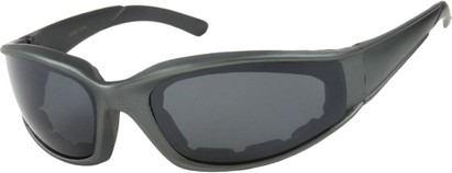 Angle of SW Padded Sport Style #9174 in Matte Grey Frame with Grey Lenses, Women's and Men's