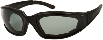 Angle of Montgomery #441 in Matte Black Frame with Smoke Lenses, Women's and Men's Sport & Wrap-Around Sunglasses