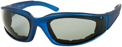 Angle of Montgomery #441 in Blue Frame with Smoke Lenses, Women's and Men's Sport & Wrap-Around Sunglasses