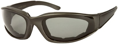 Angle of Montgomery #441 in Grey Frame with Smoke Lenses, Women's and Men's Sport & Wrap-Around Sunglasses