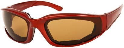Angle of Montgomery #441 in Red Frame with Amber Lenses, Women's and Men's Sport & Wrap-Around Sunglasses
