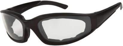 Angle of SW Padded Sport Style #9174 in Matte Black Frame with Clear Lenses, Women's and Men's