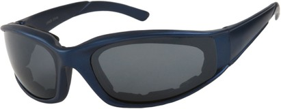 Angle of SW Padded Sport Style #9174 in Matte Blue Frame with Grey Lenses, Women's and Men's