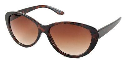 Angle of SW Cat Eye Style #1767 in Tortoise Frame with Amber Lenses, Women's and Men's
