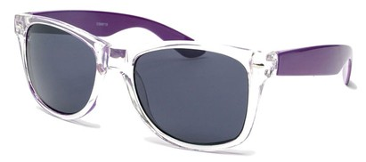 Angle of Neon in Neon Purple/Clear Frame, Women's and Men's