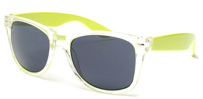 Angle of Neon in Neon Yellow/Clear Frame, Women's and Men's