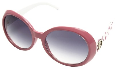 Angle of SW Polka Dot Style #742 in Rose and White Frame, Women's and Men's