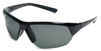 Angle of SW Polarized Sport Style #8790 in Glossy Black Frame with Smoke Lenses, Women's and Men's
