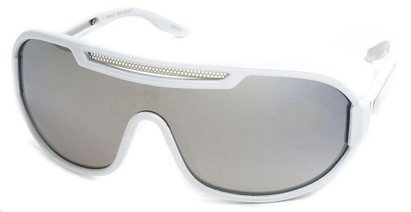 Angle of SW Neon Retro Style #8792 in White with Mirror, Women's and Men's