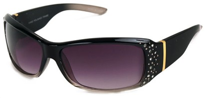 Angle of SW Rhinestone Style #8820 in Black Fade Frame, Women's and Men's