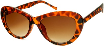 Angle of SW Cat Eye Style #412 in Tortoise with Amber Lenses, Women's and Men's