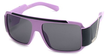 Angle of SW Bling Style #8834 in Purple and Black Frame, Women's and Men's