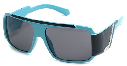 Angle of SW Bling Style #8834 in Blue and Black Frame, Women's and Men's