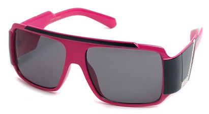 Angle of SW Bling Style #8834 in Pink and Black Frame, Women's and Men's