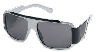 Angle of SW Bling Style #8834 in Grey and Black Frame, Women's and Men's