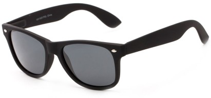 Angle of Greenland #8844 in Black with Grey Lenses, Women's and Men's Retro Square Sunglasses