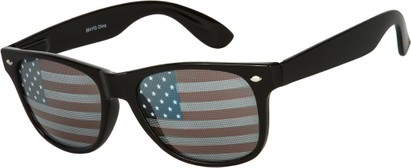 Angle of Shiprock #2166 in Black Frame with USA lenses, Women's and Men's Retro Square Sunglasses