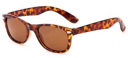 Angle of Yankee #4240 in Tortoise Frame with Amber Lenses, Women's and Men's Retro Square Sunglasses