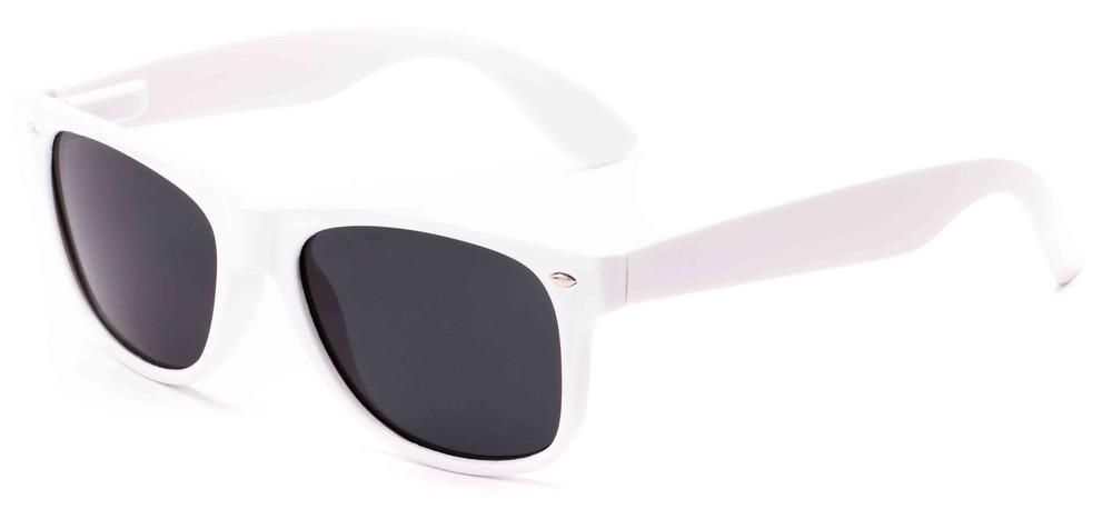 White Frame Retro Square Sunglasses   Sunglass Warehouse