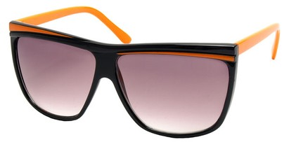 Angle of SW Oversized Retro Style #842 in Black and Orange Frame, Women's and Men's