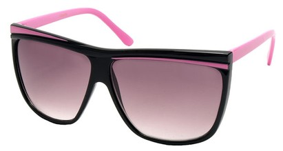 Angle of SW Oversized Retro Style #842 in Black and Pink Frame, Women's and Men's