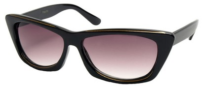 Angle of SW Modified Retro Style #8843 in Black Frame, Women's and Men's