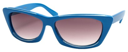Angle of SW Modified Retro Style #8843 in Blue Frame, Women's and Men's