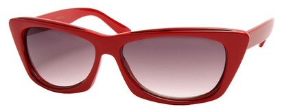 Angle of SW Modified Retro Style #8843 in Red Frame, Women's and Men's