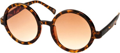 Angle of SW Round Style #1213 in Matte Tortoise Frame, Women's and Men's