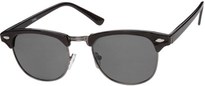 Angle of Bluegrass #2020 in Black/Grey Frame with Smoke Lenses, Women's and Men's Browline Sunglasses