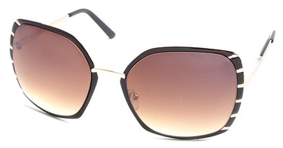 Angle of SW Oversized Style #1944 in Brown and Gold Frame, Women's and Men's