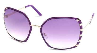 Angle of SW Oversized Style #1944 in Purple and Gold Frame, Women's and Men's