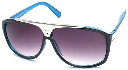 Angle of SW Retro Style #15020 in Blue Frame, Women's and Men's