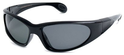 Angle of SW Polarized Sport Style #540150 in Glossy Black with Smoke, Women's and Men's