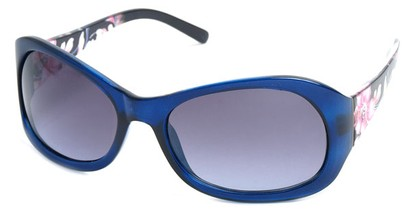 Angle of SW Floral Style #902 in Dark Blue Frame, Women's and Men's