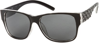 Angle of SW Polarized Style #8860 in Black, Women's and Men's