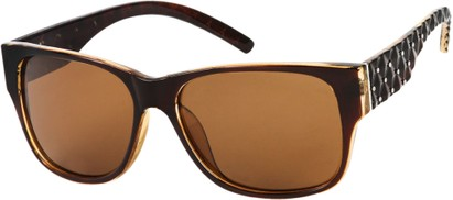 Angle of SW Polarized Style #8860 in Brown, Women's and Men's