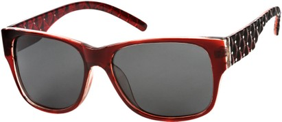 Angle of SW Polarized Style #8860 in Red, Women's and Men's