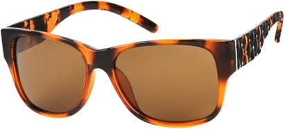 Angle of SW Polarized Style #8860 in Tortoise, Women's and Men's