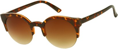 Angle of SW Retro Style #9941 in Brown Tortoise Frame with Amber Lenses, Women's and Men's