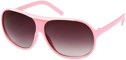Angle of SW Kid's Retro Aviator Style #419 in Pink/White Frame, Women's and Men's