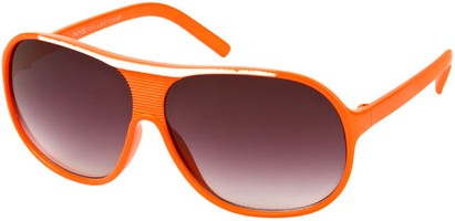 Angle of SW Kid's Retro Aviator Style #419 in Orange/White Frame, Women's and Men's