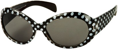 Angle of SW Kid's Polka Dot Style #9111 in Black Frame, Women's and Men's