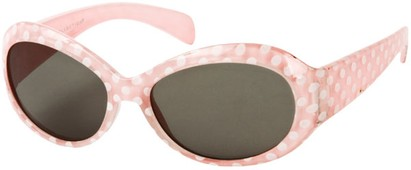 Angle of SW Kid's Polka Dot Style #9111 in Light Pink Frame, Women's and Men's