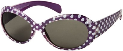 Angle of SW Kid's Polka Dot Style #9111 in Purple Frame, Women's and Men's
