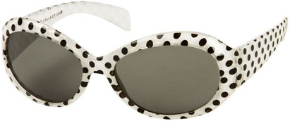 Angle of SW Kid's Polka Dot Style #9111 in White Frame, Women's and Men's